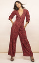 Mossie Jumpsuit Ruby Red Leopard by Dancing Leopard