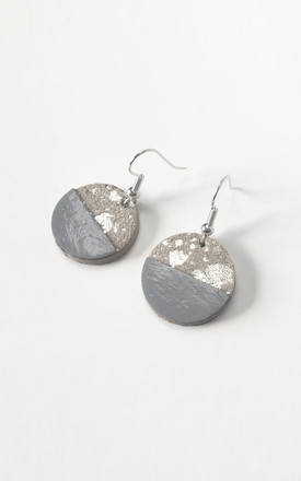 Silver Circle Bauble Earrings by Isabel Wong Product photo