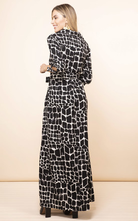 Dove Dress in Black and White Alligator by Dancing Leopard