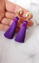 Clip-On Purple Silk Tassel Earrings by Olivia Divine Jewellery
