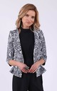 Animal print 3/4 sleeve jacket without collar by Bergamo