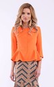 Orange basquine 3/4 sleeves without collar by Bergamo