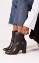 Only Love Brown Nappa Heeled Boot by Linzi