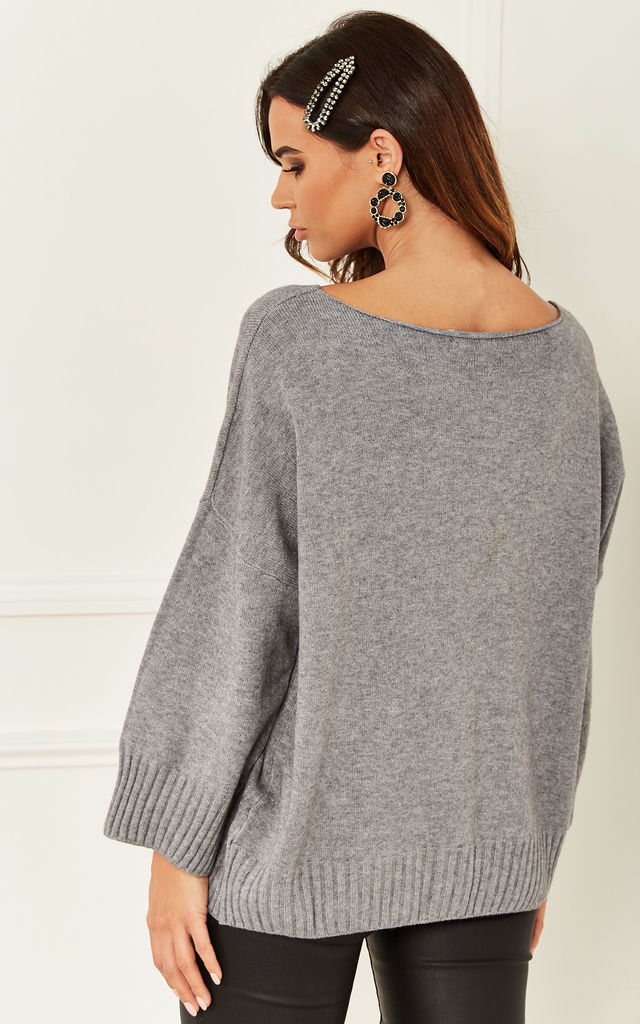 Batwing Jumper in Grey by Bella and Blue