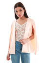 Cape Sleeve Scuba Blazer in Peach by Oops Fashion