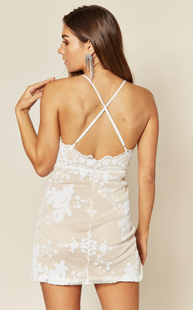 NO LIMIT WHITE SEQUIN MINI DRESS by Nazz Collection