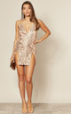 NO LIMIT NUDE SEQUIN MINI DRESS by Nazz Collection