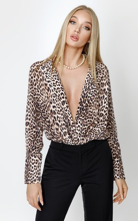 Leopard Pure Silk Blazer Blouse by KANDS LONDON Product photo