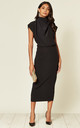 Gracie Midi Dress in Black Prada by House Of Lily