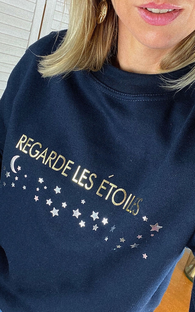 REGARDE LES ETOILES SWEATSHIRT by Rock On Ruby