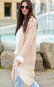 Pink Cardigan with Braid Detail by Makadamia