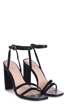 Sweetheart Black Heeled Sandal by Linzi