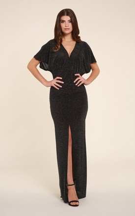 Annie Shimmer Maxi Dress With Front Split by Honor Gold Product photo