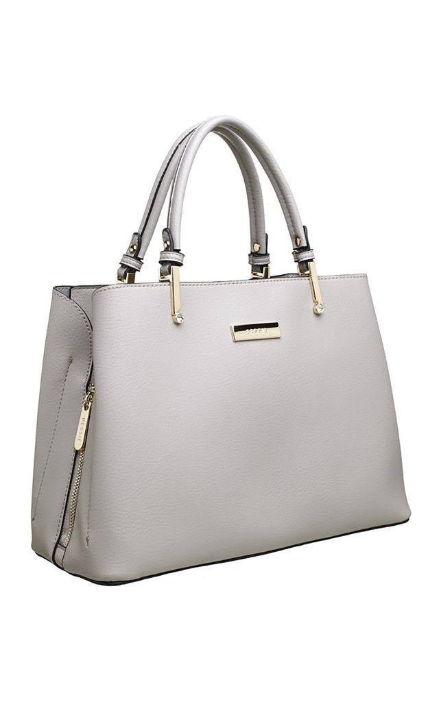 CLASSIC 3 COMPARTMENT TOTE GREY by BESSIE LONDON