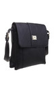 Two-Pocket Bessie Shoulder-Bag BLACK by BESSIE LONDON