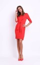 Red Bodycon Dress with Front Tie by Bergamo