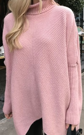 EXCLUSIVE Callie Knit Jumper Pink by Pretty Lavish