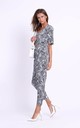 Jumpsuit with Cut Out in Panther Print by Bergamo