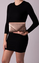 Mila Champagne Faux Leather Envelope Bag by KoKo Couture