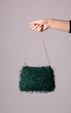 Ruthy Green Silky Fringe Bag by KoKo Couture