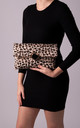 Brenda Leopard Print Foldover Clutch by KoKo Couture