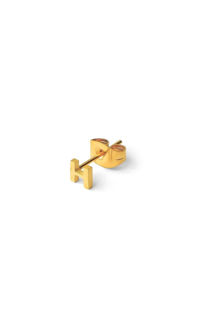 Little Letter H Earring 18ct Gold by Florence London