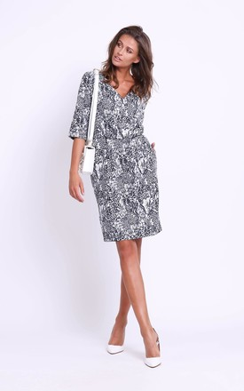 Wrap Front Dress in Panther Print by Bergamo