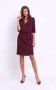 Wrap Front Dress in Deep Red by Bergamo