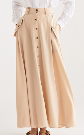 Flo Maxi Skirt in Beige by Paisie