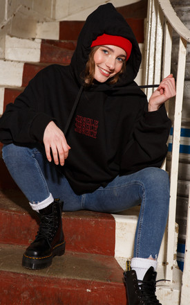 Jingle Ladies Christmas Hoodie in Black/Red by Batch1