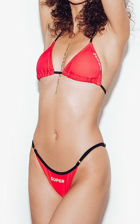 Volley Bikini Set in Red by *BY COLORSUPER