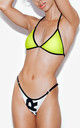 Doubles Bikini Set in Green/White by *BY COLORSUPER