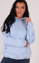 Baby Blue Oversized Hoodie by LimeBlonde