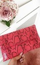 Melinda Pink Snake Print Clutch Bag by IKRUSH