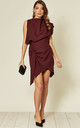 Callie Tailored Wrap Dress Wine by Rag & Doll