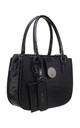 BLACK CROC PRINT TOTE WITH CARD HOLDER by BESSIE LONDON