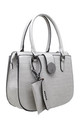 GREY CROC PRINT TOTE WITH CARD HOLDER by BESSIE LONDON