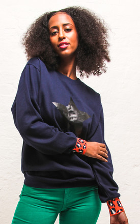 Navy Star Jumper by Agnes and Lola Product photo