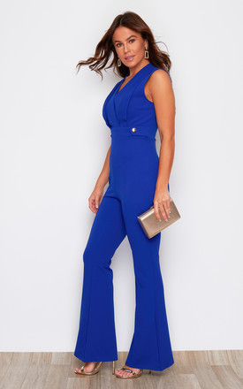 Victoria Wide Leg Jumpsuit Cobalt by Girl In Mind