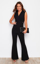 Victoria Wide Led Jumpsuit Black by Girl In Mind