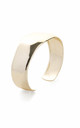 Gold Open Bangle by Tutti & Co