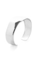 Silver Open Bangle by Tutti & Co