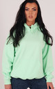Oversized Hoodie in Mint Green by LimeBlonde