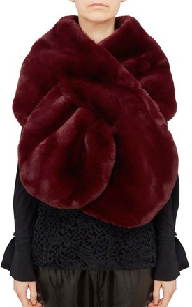 Merlot Faux Fur Scarf by Urbancode London Product photo