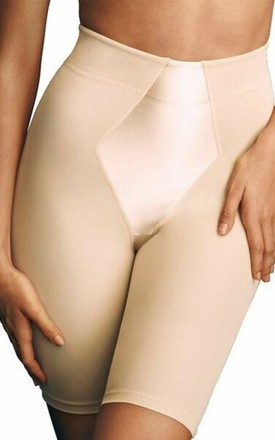 Nude Satin High Shaper Control Shorts by BB Lingerie