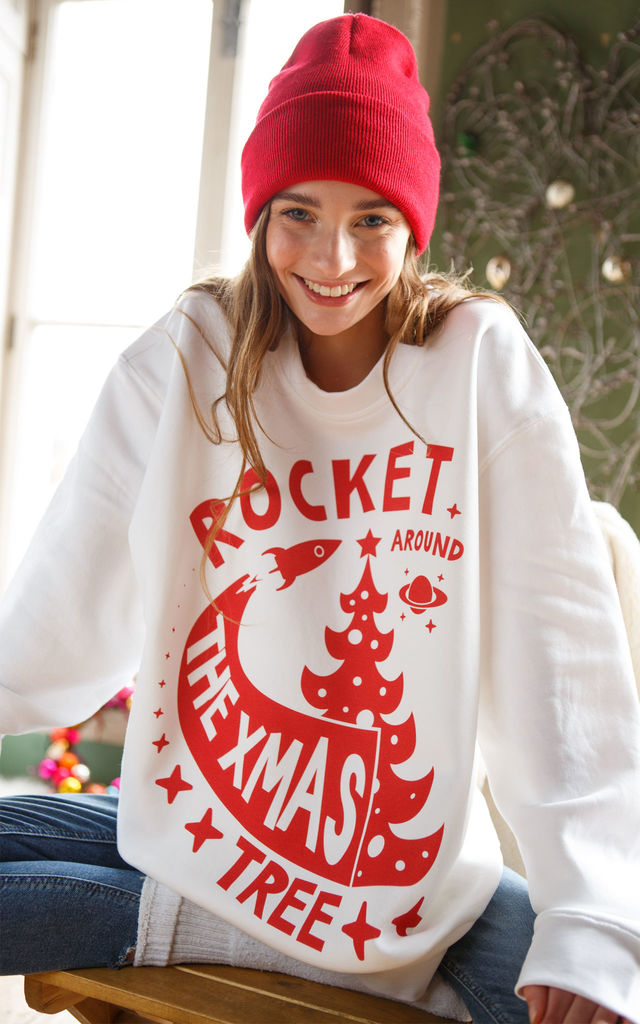 Rocket Around the Christmas Tree Women's Jumper by Batch1