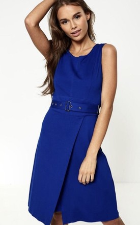 Victoria Sleeveless Midi Dress In Blue by Anne Louise Boutique Product photo