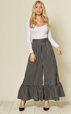 Pinstriped Ruffle Trousers by Twist and Turn Product photo