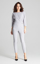Grey Jumpsuit With 3/4 Sleeves by LENITIF