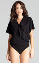 Bodysuit With Short Sleeves in Black by LENITIF